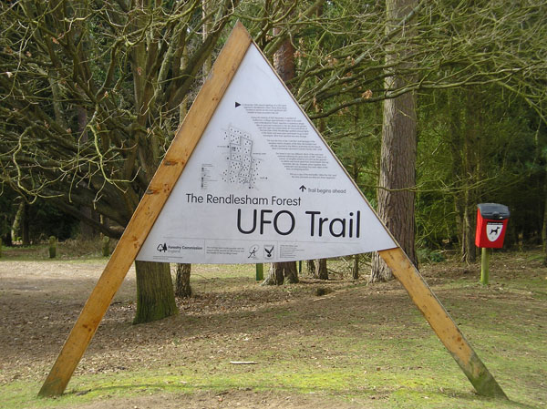 The start to the UFO Trail in Rendlesham forest